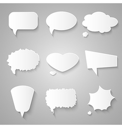 Set of paper speech bubbles with shadows vector image