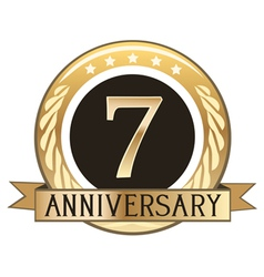 Seven Year Anniversary Badge vector image