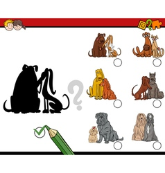 Shadows game with dogs vector