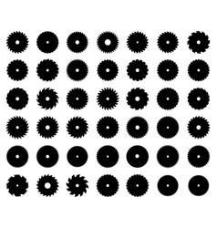 silhouettes circular saw blades vector image