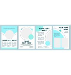 Simple cyan brochure template vector
