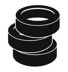 Stack of tire icon simple style vector