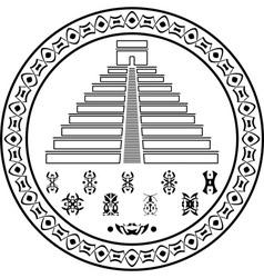 stencil pyramids and symbols vector image