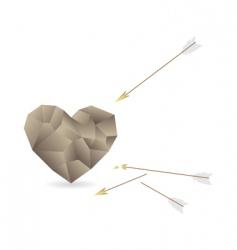 stone heart vector image