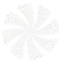 Syringe fireworks swirl flower vector