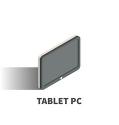 tablet pc icon symbol vector image