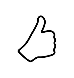 Thumb up icon graphic design template vector