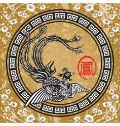 traditional Chinese phoenix vector image