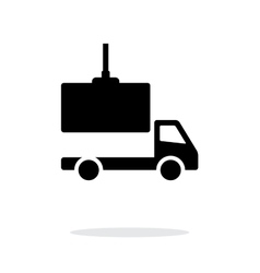 Truck loading simple icon on white background vector image