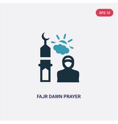 Two color fajr dawn prayer icon from religion-2 vector