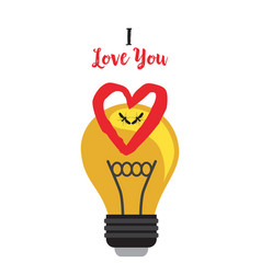 two mosquitoes in a light bulb with a heart vector image