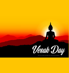 Vesak buddha day buddhism religion holiday vector