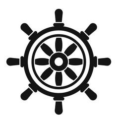 Vessel ship wheel icon simple style vector