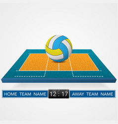 Volleyball court background vector