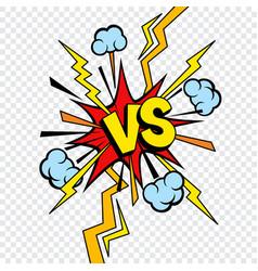 vs or versus comic design transparent background vector image