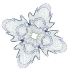 Watermark guilloche design for background certifi vector