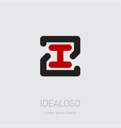 zi or 21 - design element or icon initial vector image