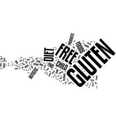 gluten free diet text background word cloud vector image vector image