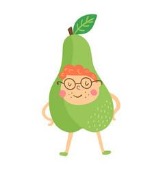 Pear boy vector