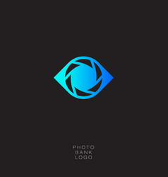 photo bank logo vector image