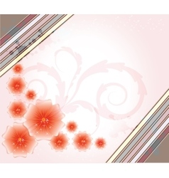 Spring and summer background vector image