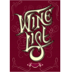 background with inscription wine vector image vector image
