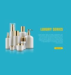 cosmetic realistic bottle set vector image