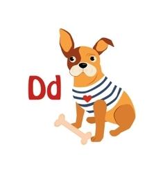 Dog Funny Alphabet Animal vector image vector image