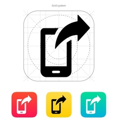 Phone posted icon vector image vector image