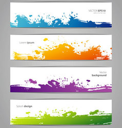 Splash banners vector