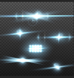 transparent lens flare effect vector image vector image