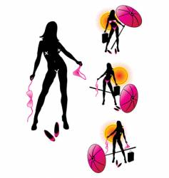 bikini girls vector image vector image