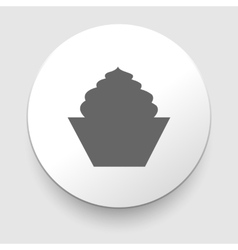 Cake icon Isolated on white background vector image