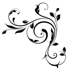 Design element swirls-4 vector image vector image