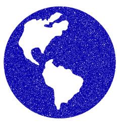 earth icon grunge watermark vector image vector image