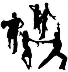 latino dance silhouettes vector image vector image