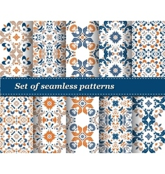 set of abstract pattern paper for scrapbook vector image
