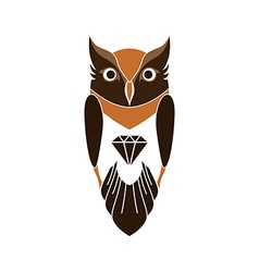 decorative owl art vector image