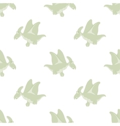 flying dinosaurs on a white background vector image vector image