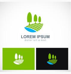 plant tree nature landscape logo vector image