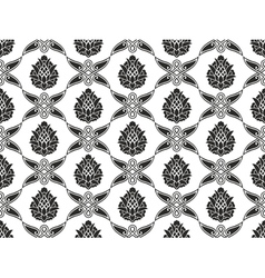 Seamless Damask floral texture vector image