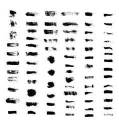set of grunge brush strokes vector image vector image