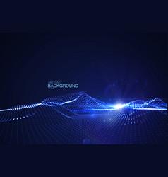 shiny blue wave vector image