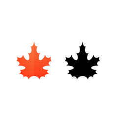 sign of maple leaf vector image vector image