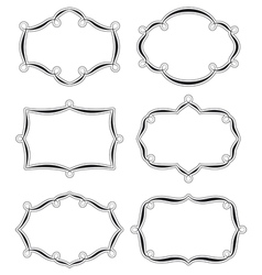 Six swirled labels ter vector image vector image