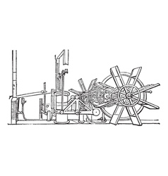 Steam Ship Paddle vintage vector image