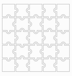 25 puzzles vector image