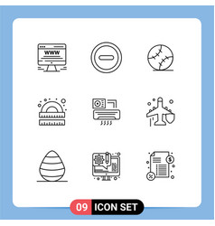 9 creative icons modern signs and symbols vector