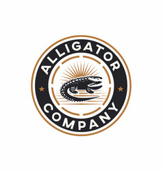 alligator logo design vector image
