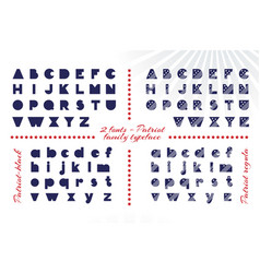 alphabet for celebration design 4 th july in vector image